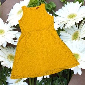 Sunshine Yellow Lace Dress S: L
